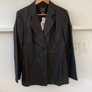 NWT Linen INC International Concepts black blazer